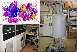 核磁気共鳴(NMR)測定装置と分子動力学計算により再現した多孔性亜鉛錯体に吸着したベンゼン分子の吸着構造